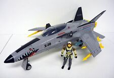 GI JOE CONQUEST X-30 Vintage Action Figure Vehicle COMPLETE w/SLIPSTREAM 1986