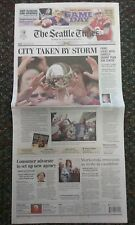 Seattle Storm CHAMPS! The Seattle Times Full Newspaper Friday, Sept 18th 2010