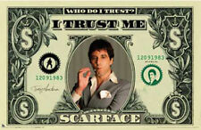 "Scarface LAMINATED POSTER ""American Dollar Bill $$, Al Pacino"" NEW Licensed Art"