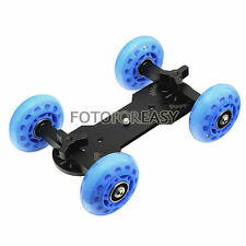 PRO 4-Wheel Desktop Tabletop Dolly Car Truck Skater Slider For DSLR Video Camera