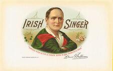 Irish Singer cigar box label