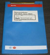 Werkstatthandbuch VW Golf 3 III Typ 1H Vento Motronic Einspritz- und Zündanlage!