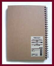 muji brown kraft paper cover plain A5 notebook 80 sheets = 160 pages