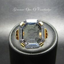 Tests as 18ct Gold Created Colour Change 15ct Sapphire Solitaire Ring Size K 9g