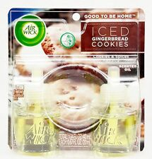 2 REFILLS Air Wick ICED GINGERBREAD COOKIES Spice Scented Oil Plug In Refill