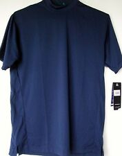 Mizuno Baseball Shirt XS Navy Blue Performance Wear Short Sleeves NEW Tags NWT