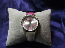 Woman's SO Watch with Pink & White Band **Nice** B25-919