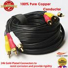 Gold Plated Stereo / VCR RCA Cable, 2 RCA Audio with RCA RG59 Video, 50 feet