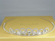 Tiara Bridal Wedding Crystals Swarovski Silver Plated made in Italy Tiaras Crown