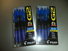 24 2x12  PILOT G2 BLUE FINE 0.7 ROLLERBALL PENS free ship retail package 31137