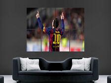 Lionel MESSI Barcellona FC Football Club Art ENORME GRANDE FOTO POSTER GIGANTE