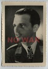WWII GERMAN WAR PHOTO LUFTWAFFE PILOT Winfrid Schmidt THE KNIGHT CROSS HOLDER