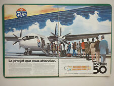 8/1984 PUB FOKKER AIRCRAFT HOLLAND FOKKER 50 REGIONAL AIRLINER FRENCH AD