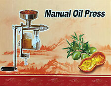 Acciaio inox Mano Olio Pressa Pressa-olio per il Pressione da in Seme Nuovo