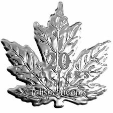 Canada 2015 Canadian Maple Leaf Shaped $20 Pure Silver Maple Leaf Proof SML