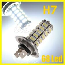 H7 AMPOULE LAMPE 1210 3528 SMD 68 LED XENON PHARE FEUX BLANC 400LM VOITURE 12V