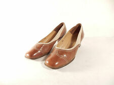 BALLY Switzerland Gr 6,5 ( 39,5 ) Leder Pumps braun beige elegant Damen edel