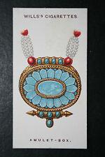 Amuleto Tibetano caja encanto Original Década de 1920 Vintage tarjeta en muy buena condición
