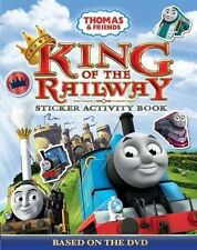 NEW -KING OF THE RAILWAY  THOMAS and FRIENDS - STICKER ACTIVITY BOOK 100+