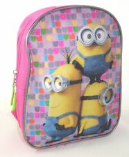 Despicable Me Minion Mini Backpack 10'' Boys Kids Backpack Purple and Turquois