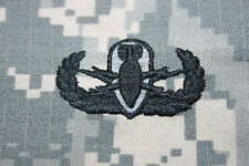 GENUINE US ARMY ISSUE PAINTBALL EOD EXPLOSIVE ORDNANCE DISPOSAL ACU CLOTH BADGE