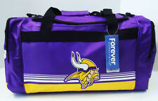 "Minnesota Vikings DUFFEL Bag Stripes Gym Training New 20"" x 11"" x 11"" NFL"
