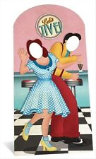 1950s Swing Dancers Lifesize CARDBOARD STAND-IN cutout standee party Jive dance