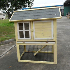 """PRO 37"""" Wood Chicken Coop Rabbit Hutch Small Animal Cage Duck Guinea Pig Ferret"""