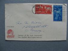 NEW ZEALAND, cover FDC 1957, sheep wool, canc Timaru