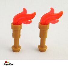 LEGO Torch with Flame (Pack of 2) NEW 64644 64647