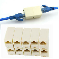 GOCA 10pcs RJ45 CAT5 Coupler Plug Network LAN Cable Extender Connector Adapter