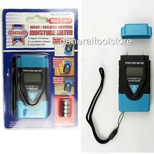 MOISTURE METER FOR WOOD TIMBER MORTAR CONCRETE PLASTER WALLS. DIGITAL DISPLAY