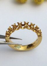 MONTATURA PER RIVIERE IN ORO GIALLO 18KT - 18KT SOLID GOLD RIVIERE RING