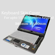 "Silicone Universal Keyboard Skin Cover For Notebook Sony Acer Asus 15"" w/keypad"