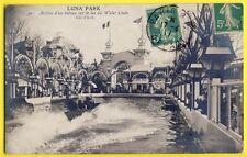 cpa Formidable PARIS en 1911 LUNA PARK Fête Foraine TOBOGGAN Eau Water Chute