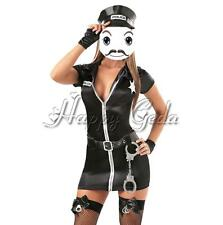 Sexy Women Police Woman Officer Cop Uniform Fancy Dress Party Costume Outfit Hat