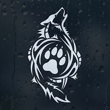 Wolf Paw Print Sign Car Decal Vinyl Sticker For Window Bumper Panel