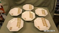 "166M Vtg 6 Footed Large Octagon Rice Bowls ""Inn Com'parable"" Japan MINT !!"