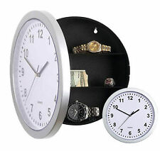 NEW WALL CLOCK SAFE WITH SECRET STASH HIDDEN COMPARTMENTS MONEY JEWELLERY