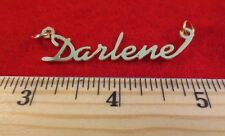 "14KT GOLD EP ""DARLENE"" PERSONALIZED NAME PLATE WORD CHARM PENDANT 6098"