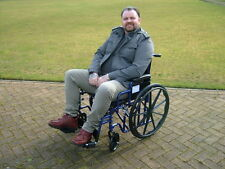 EXTRA WIDE BARIATRIC WHEELCHAIR 26 INCH SEAT WIDTH. DOUBLE CROSS FRAME.