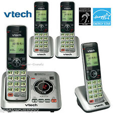 Vtech DECT 6.0 4 Cordless Handset Home Telephone Phone System ID CS6629-3 CS6609