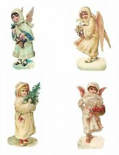 Christmas Winter Girl & Angels ~ Cotton Quilt Blocks FrEE ShiPPinG WoRld WiDE
