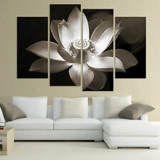 Lotus Flower Painting Canvas Picture Print Wall Hangings Home Decor NO frame