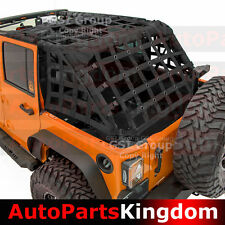 07-17 Jeep Wrangler JK Off Road 4 Door Black Cargo Net System Restraint Net 4x4