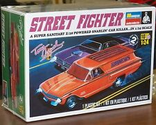 Revell Monogram Tom Daniels STREET FIGHTER 1960 Chevy Delivery Sedan model 1/24