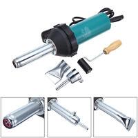 1080W Plastic Welder Hot Air Gun Welding Heat Gun Hot Air Gas Kit New