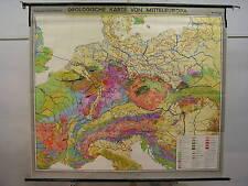 Schulwandkarte Wandkarte Schulkarte Geologische Karte Mitteleuropa 202x179 1961