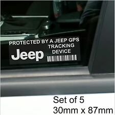 5 x Jeep GPS Tracking Device Security Stickers-Cherokee,XK,KJ-Car Alarm Tracker