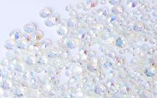 1000 Crystal Flat Back Iridescent Nail Art Face Festival Rhinestones Gems AB